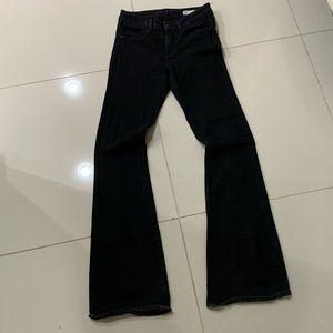 Zara High Waisted Black Flare Jeans - Size 6